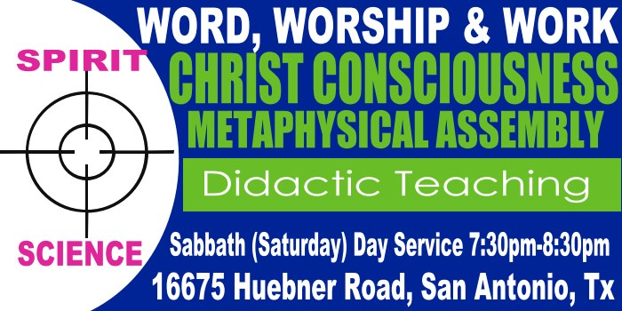 Christ Consciousness Metaphysical Assembly | MASTERTEACHER 33