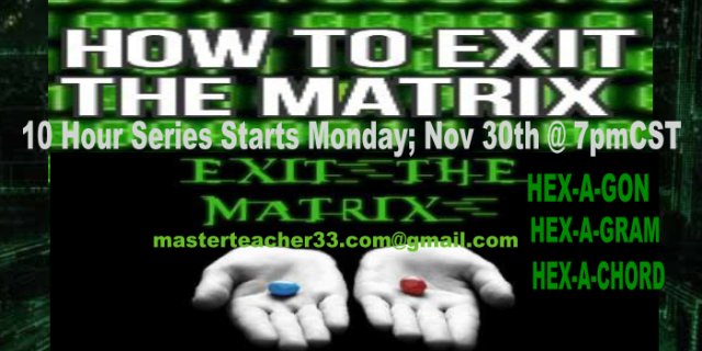 HOW TO EXIT THE MATRIX